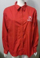 Disney Store Red Long Sleeve Button Up Employee Work Shirt Uniform Womens XXL