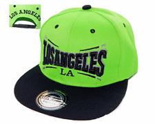 BASECAP Baseball SNAP BACK CAP Schwarz Grün LOS ANGELES Fittet Damen Herren LA 1