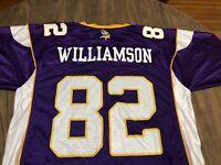 Troy Williamson 82 Minnesota Vikings NFL Reebok Medium Purple Jersey