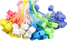 500pcs Dental Milk Teeth Holder Boxes Plastic Necklace Tooth Shaped Kids Mixed