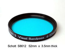 Schott S8612 52mm x 3.5mm UV/IR Cut Filter Visual Bandpass IR Suppress HotMirror
