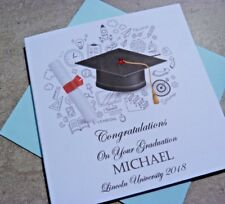 Personalised Handmade Congratulations Graduation Card