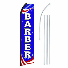 Barber Flag And Pole Only Sign Swooper Feather Banner 25 Foot Wide Advertising