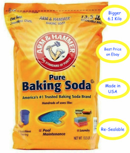6.1kg FOOD GRADE Arm & Hammer Baking Soda Cleaning Stain Resealable Bicarb Soda