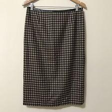 Worth Skirt 10 Pattern Zipper Office Wear Wool Knee Modest Fitted Pencil Waisted