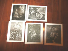 LOT of 5 Perry Pictures ANGELS Various Vintage 1930s Art Prints 10 x 12 READ