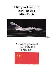 MIG-15 Flight Manual 1994 Pilot's Operating Instructions Pilot's Handbook -CD