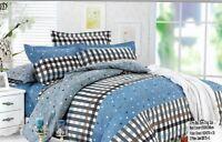 Light Green Cotton Duvet Cover Set Quilt Bedding Set Pillow Cases, Fitted Sheet