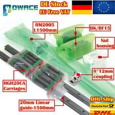【DE】SBR16 Linear Guide Rail CNC Kit/&Ballscrew RM1605 L350//750//1150mm+Nut/&Coupler