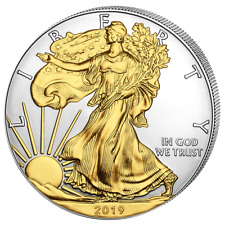 USA - 1 Dollar 2019 - Silver Eagle - Walking Liberty vergildet 1 Oz Silber Stgl
