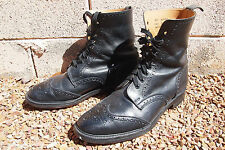 Rare vtg To Boot NY wingtip boots by Alfred Sargent 11.5 England 7wk last 12