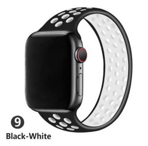 Silicone Breathable Solo Loop Band Apple Watch Strap iWatch SE 6-1 38/40 42/44mm