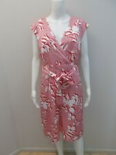TRENT NATHAN RED/WHITE OCCASIONS DRESS WITH BELT/POCKETS SIZE 16     (#W1238)