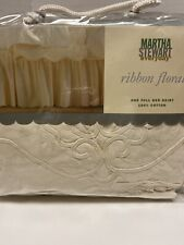 Full Bed skirt Martha Stewart Everyday Cotton Ribbon Floral In Pkg Never Used.
