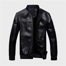 Men's Lambskin Leather Jacket Black Slim Fit Biker Motorcycle Jacket Coat New .