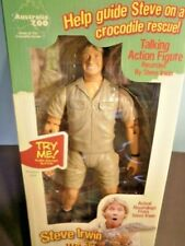 Amazing STEVE IRWIN Talking Action Figure MIB Adventurer Crockodile Hunter