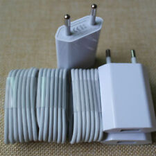 3X EU Euro European Wall Charger + 3X USB Data Cable for iPhone 6 6 Plus 7 5 5S