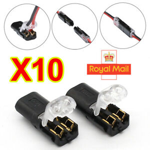 10x 12V Car Auto Wire Cable Plug Connector Strip Terminal Connection Block Clamp