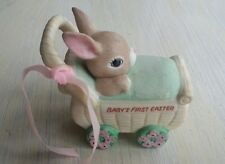 Vintage 1980s GEORGE Baby's First Christmas Bunny Rabbit Stroller Carriage