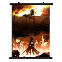 HOT Anime Attack on Titan Wall Poster Scroll Home Decor Cosplay 071