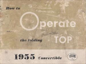 ORIG 1955 Convertible Top Owners Manual Original Cadillac Buick Super Roadmaster