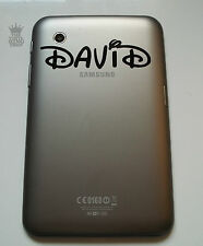 """Samsung Galaxy Tab 7"""" inch Personalised Name in Curly Font Vinyl Sticker Tablet"""