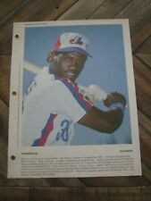 Dimanche Derniere Heure May 17, 1981 Tim Raines - Montreal Expos              ZQ