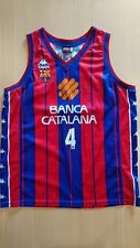 Baloncesto basketball jersey Andrés Jiménez Barcelona ACB match worn signed