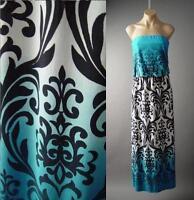 Beach Island Goddess Ombre Art Nouveau Tapestry Long Maxi 133 mv Dress S M L