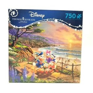 Sealed New Disney/Kinkade 750 Piece Puzzle Donald and Daisy A Duck Day Afternoon