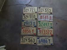 INDIANA LICENSE PLATES LOT OF 10