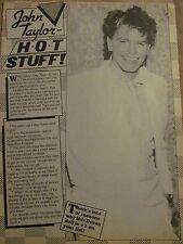 John Taylor, Duran Duran, Full Page Vintage Clipping