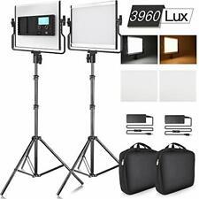 SAMTIAN 3960 Lux Bi-Color Photography Lighting Kit LED Video Light with LCD