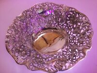 Vintage Godinger Silver Art Company LTD Ornate Bowl Tray