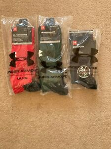 Under Armour  3 Pairs Different Wales/WRU Rugby Socks -BNWT-Size UK Large 7-11