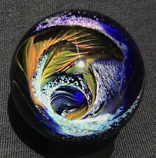 Kevin O'Grady Art Glass Marble, Boro, Hand Made Marble