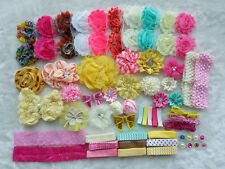 Deluxe DIY kits,Baby Shower Station,Headband,shabby flowers Party Supply,Xms I