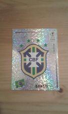 N°170 BADGE LOGO FOIL # BRASIL PANINI 2002 FIFA WORLD CUP KOREA JAPAN