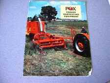 Fox Forage Harvesting Equipment Brochure from 1958