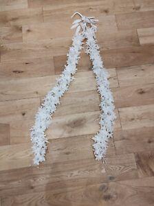 White Silk Fake Artificial Flowers Hanging Garland Wedding Decoration
