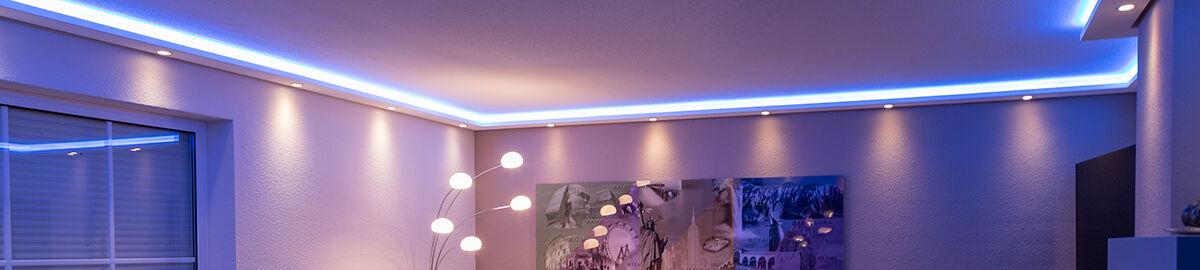 bendu led stuckleisten lichtprofile ebay shops. Black Bedroom Furniture Sets. Home Design Ideas