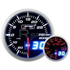 Prosport 52mm Smoked White Amber Boost PSI Gauge with Dual Display