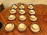 Vintage 12 cups 12 Saucers Sesto La Flamma Italian Porcelain Coffee Set