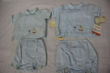 NWT Vintage Little Boys 2 Pc Outfit By CHERUBS For SAKS FIFTH AVE,Blue, Sz M-B52