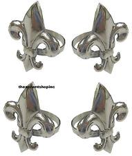 India Handicrafts Fleur de Lis Napkin Ring, Set of 4 (13607)