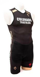 Panache CU Buffs Triathlon Sleeveless Tri Skinsuit Men LARGE Black Specialized