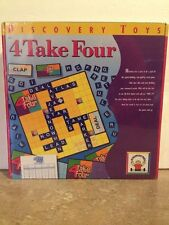 Discovery Toys  4 Take Four Game Spelling Crossword Puzzle New