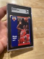 Michael Jordan SGC 7 NM 1991 Fleer SLABBED INVEST Against Inflation Last Dance