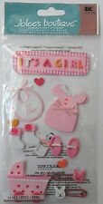 Baby Girl Newborn Scrapbook Stickers Sheet