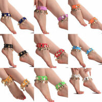 Belly Dance Wear Bracelet Wrist Ankle Arm Leg Elastic Cuff Hand Gold Coin Party